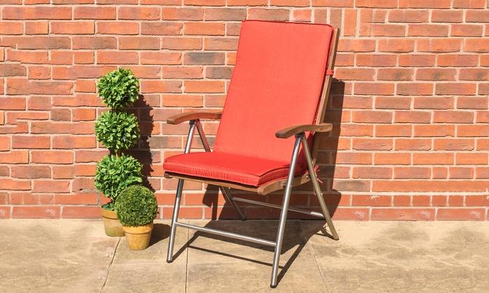 Terracotta High-Back Outdoor Dining Chair Cushion (£13.99)