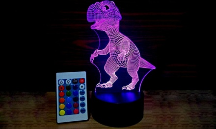 .95 for Dinosaur 3D Optical Illusion ColourChanging LED Lights