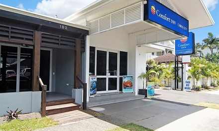 Cairns, QLD: 1 or 2 Nights for Two People with Chocolate, Late CheckOut and Early CheckIn at Comfort Inn Cairns City