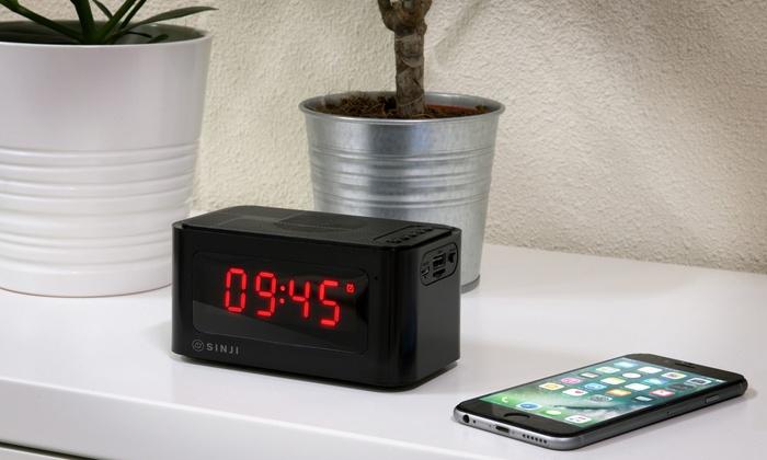 Orologio sveglia digitale luminosa display lcd grande calendario