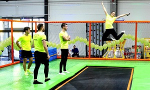 Jump arena - Warszawa: Wielkie otwarcie – Park Trampolin Jump Arena: wejście dla 1 osoby od 17.99 zł i więcej opcji
