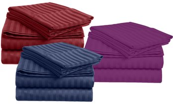 Ultra-Soft Stripe Bed Sheet Set