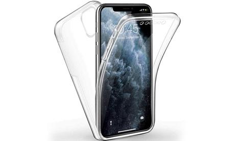 Cubierta completa TPU para teléfono transparente