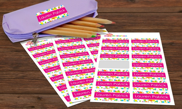 Dinkleboo: Choice of Personalised Kids Name Labels from Dinkleboo (Up to 75% Off)
