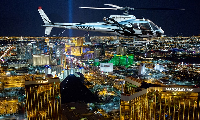 Las Vegas Helicopter Night Strip Flight Tour with Luxury Transportation and Dinner; Options are for one person. Purchase multiple for your party. View Groupon Promotion for Grand Canyon Helicopter Tours. The Fine Print. Promotional value expires days after purchase. Amount paid never expires%(79).