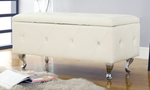 Crystal Entryway Storage Bench