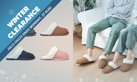 WINTER CLEARANCE: $29.95 for a Pair of Unisex Australian Sheepskin UGG Rosa Scuffs Don't Pay $99