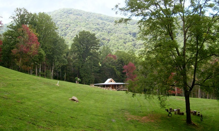 Randall Glen - Leicester,	North Carolina: 2- or 3-Night Log Cabin Stay for Up to Eight at Randall Glen in Greater Asheville, NC. Combine Up to 6 Nights.