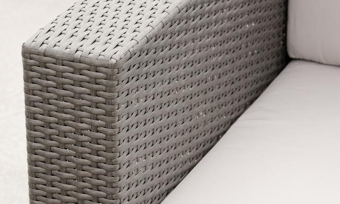 Wicker 4-Piece Outdoor Sofa Set