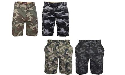 Mens Camouflage Cargo Shorts