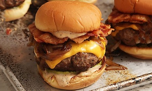 Lillies BBQ: Burger or Hot Dog with Fries and Milkshake for Up to Four at Lillies BBQ (Up to 56% Off)