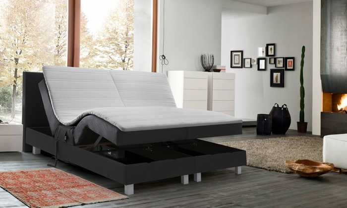lit lectrique boxspring promo groupon. Black Bedroom Furniture Sets. Home Design Ideas