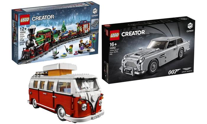 Set di costruzioni delle linee Lego Creator e Lego Creator Expert adatti a bambini e adulti disponibili in vari modelli