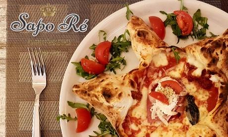 Menu pizza classica o speciale con antipasto e bevanda per 2 persone al ristorante Sapo Ré (sconto fino a 34%)