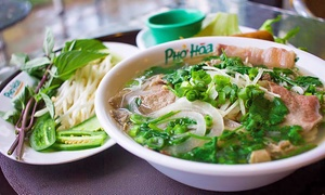 Up to 35% Off at Pho Hoa Noodle Soup at Pho Hoa Noodle Soup, plus 6.0% Cash Back from Ebates.