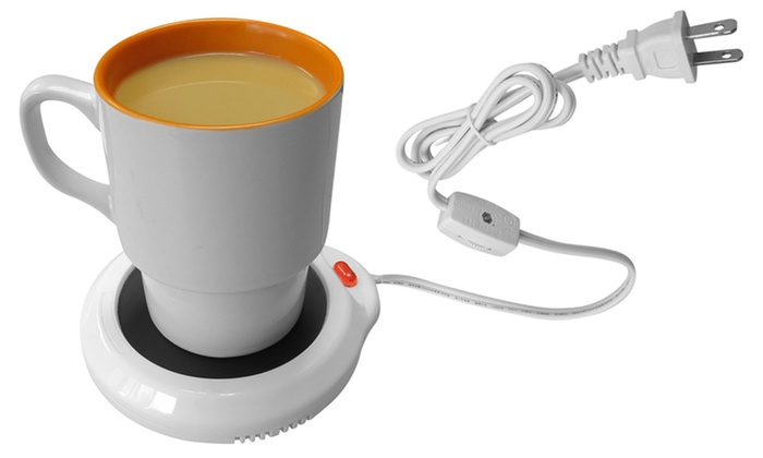 Electric Cup Warmer ~ Evelots electric beverage warmer groupon goods