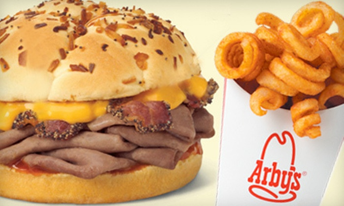 Arby's - Multiple Locations: $5 for $10 Worth of Roast-Beef Sandwiches, Curly Fries, and Drinks at Arby's