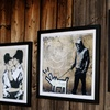 Framed Personalized Banksy Prints on Canvas from Artf.ly