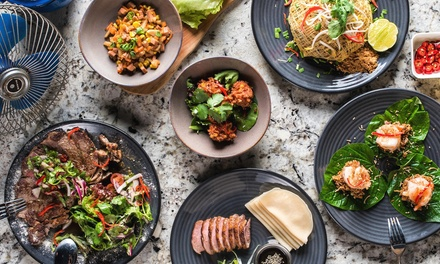 Two-Course Modern Asian Dinner with Wine for Two ($59) or Four People ($115) at Mrs Q (Up to $286 Value)