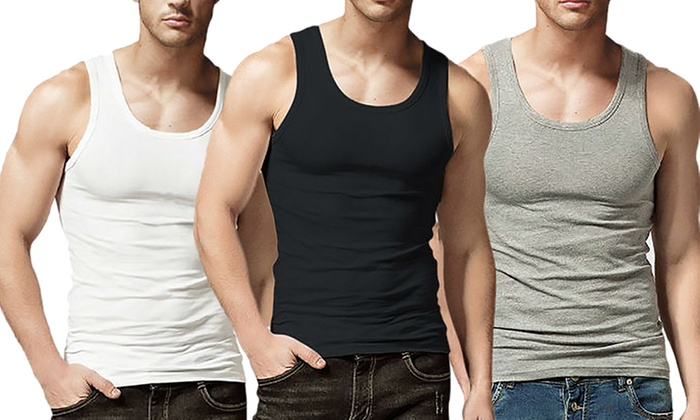 Groupon Goods: Set of 6 Men's Combed-Cotton A-Shirts (Shipping Included)