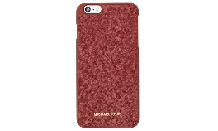 new style 626fe aab6d Michael Kors Saffiano Leather Inlay iPhone 6 Plus Cover