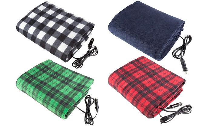 Car Blanket: 12V Electric Heated Blankets For Cars (Multiple Colors