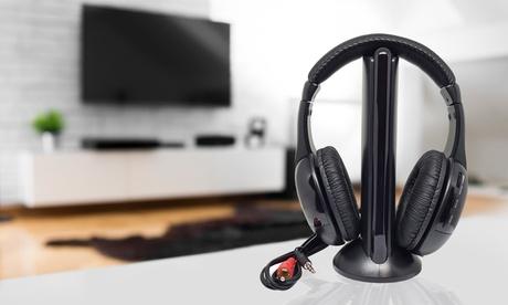 Auriculares inalámbricos para TV y radio 5 en 1
