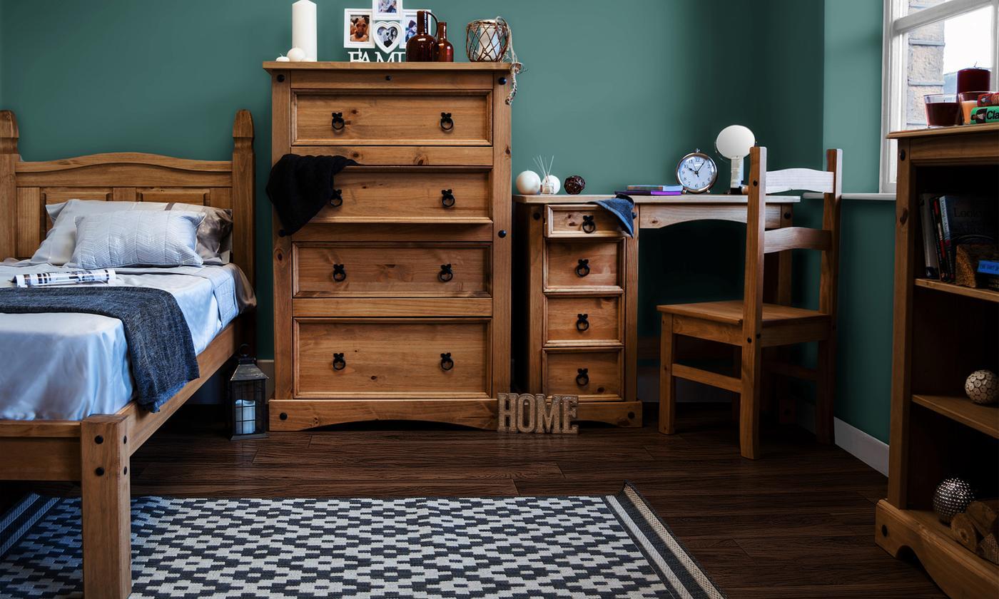 Vida Designs Corona Bedroom Furniture Range from £43.99 (50% OFF)