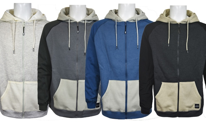 Pipeline Men's Color-Block Zip-Up Hoodies