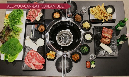 AYCE BBQ with Desserts and Drinks $69, 4 $138 or 8 Ppl $276 at KTown Korean BBQ House Up to $596 Value