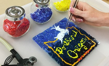 image for $35 for a Glass-Fusing Workshop for One at Live Laugh Love Art; Valid for Tigard Location ($60 Value)