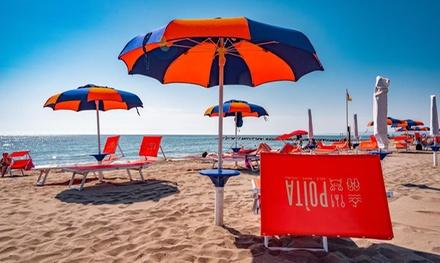 Ingresso in spiaggia con lettini a 6,90€euro