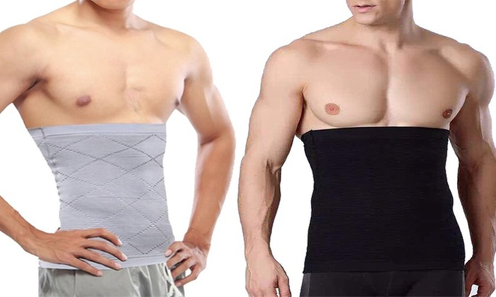 One or Two Men's Compression Waist Body Shapers