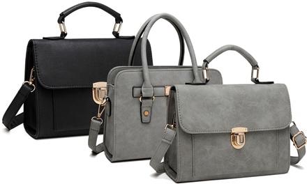 Miss Lulu Padlock Tote Handbag