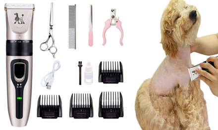 Electric Low-Noise Hair Trimmer for Pets Set: 8-Piece ($26), 10-Piece ($29) or 12-Piece (From $32)