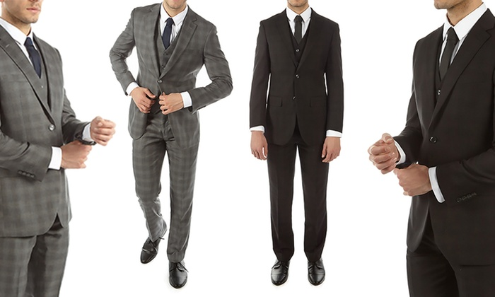 Alberto Cardinali Men's Slim-Fit Suit (3-Piece)