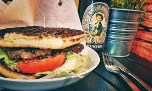 Kings Bread Slowfood: Kings-Bread-Slow-Food-Burger mit Getränk nach Wahl für 1 bis 4 Personen bei Kings Bread Slowfood (35% sparen*)