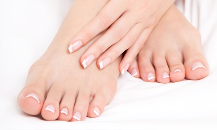 Shellac Manicure or Silver Leaf Spa Pedicure at Silver Leaf Spa (Up to 33% Off)