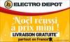 Livraison gratuite sur les articles de - de 30kg sur Electro Depot
