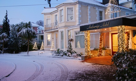 Torquay: 1 or 2 Nights for Two with Breakfast, Bottle of Prosecco and Late CheckOut at Anchorage Hotel