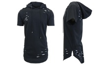 Galaxy by Harvic Mens French Terry Ripped Pullover Hoodie Deals