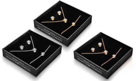 Trio de bijoux orné de cristaux Swarovski®
