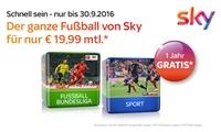 TV-Paket Sky Starter + 1, 2 oder 3 Premiumpakete mit Sky Fußball Bundesliga, Sky Sport undoder Sky Cinema