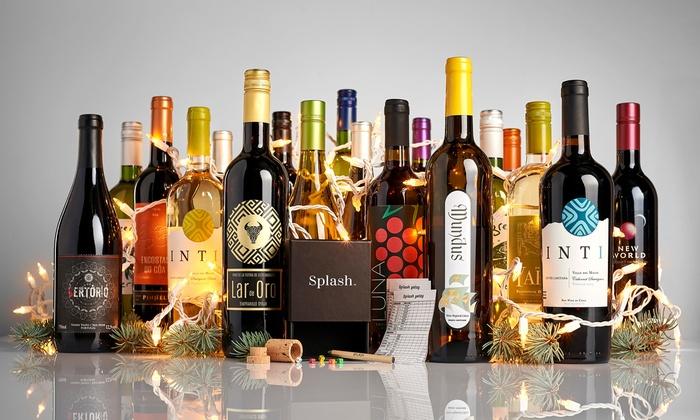 Splash Wines: 73% Off an 18 Bottle Mega-Pack Plus Yatzy Game from Splash Wines