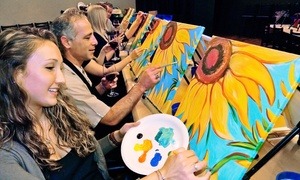 Painting & Vino-Los Angeles: Painting Class for One or Two at Painting & Vino-Los Angeles (Up to 46% Off)