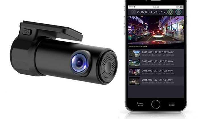One or Two Full HD WiFi Compact Dash Cameras With Optional 32GB SD Cards from £33.26