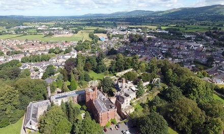 Ruthin: 1Night Castle Stay with Breakfast, Dinner, Prosecco, Spa Access, and Spa Credit at 4* Ruthin Castle Hotel & Spa