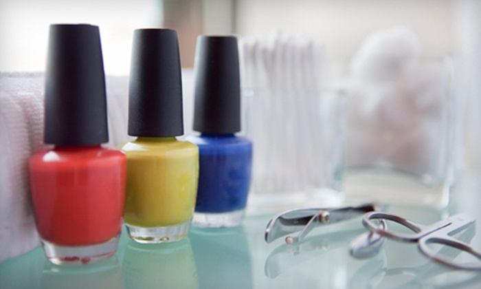 The Nail Bar at Salontra - Catonsville: Classic Mani-Pedi or Signature Mani-Pedi with Bottle of Nail Polish at The Nail Bar at Salontra (Up to 59% Off)
