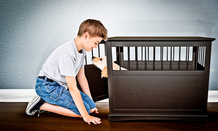 Dog Crate End Table Groupon