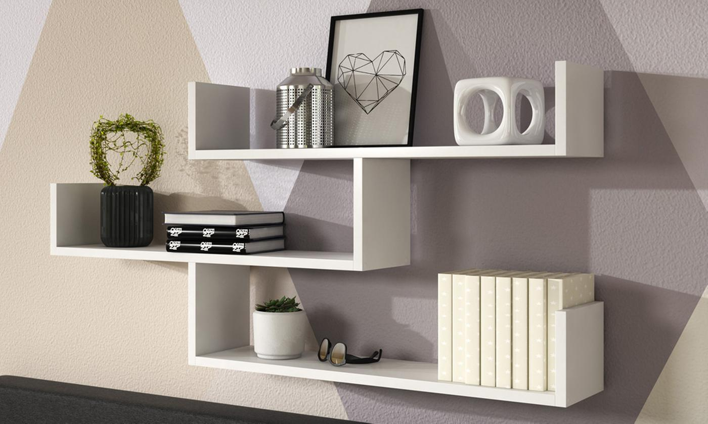 Set of Three or Seven Selsey Kassi Shelves (£49.98)